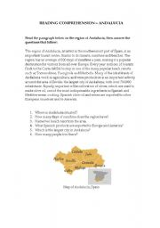 English Worksheets: Reading Comprehension - Andalucia