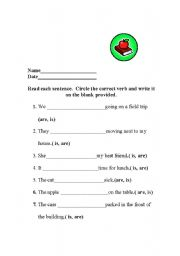 English Worksheets: Correctly using is and are