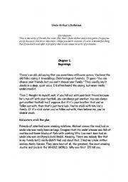 English Worksheets: Uncle Arthur