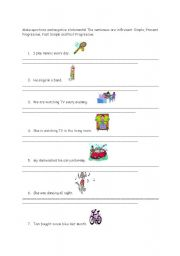 English Worksheet: Questions and negative statements