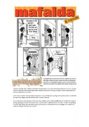 English Worksheet: Mafalda and friends