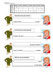 English Worksheets: HOW OFTEN...?