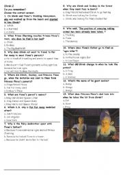 English Worksheet: Shrek 2 Multiple choice questions