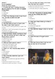 English Worksheets: Shrek 2 Multiple choice questions