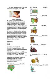 English Worksheets: propositions