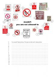 English Worksheets: mustn�t