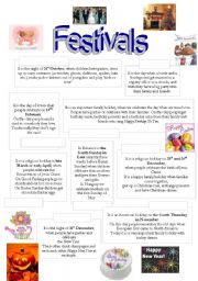 English Worksheets: festivals