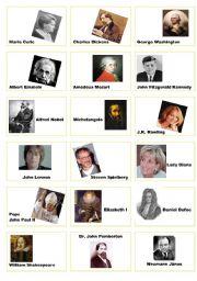 English Worksheet: famous people