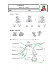 English Worksheets: Revision Test part 1 - Body Parts