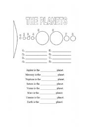 Worksheet Planets Worksheets english teaching worksheets the planets diagram