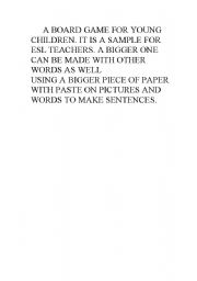 English worksheet: A BOARD GAME ON PAGE 2