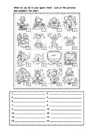 English Worksheets: Hobbies