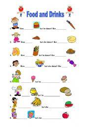 English Worksheet: food:like-dislike.