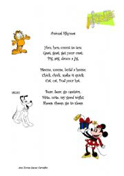 English Worksheet: Anymal rhymes