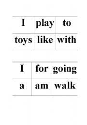English Worksheets: Sentence mix up!