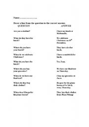 English Worksheets: Question