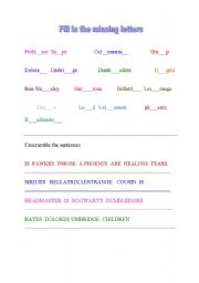 harry potter study guide worksheets