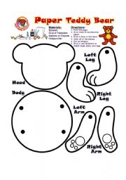 English Worksheets: How to make a bear?