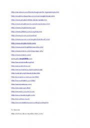 English Worksheets: websites
