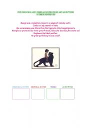 English Worksheets: Find nouns,verbs and adjectives in this short Jungle Book article