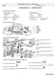 English Worksheet: how much&how many