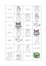 English Worksheets: domino- farm animals