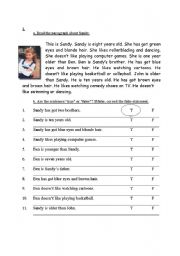 English Worksheets: handout for second graders