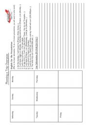 English Worksheet: Super Overseas Trip Project