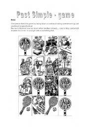 English Worksheet: Past Simple - game