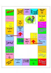 English Worksheets: Classroom actions board game