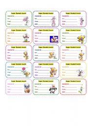 English Worksheets: AWARDS 3