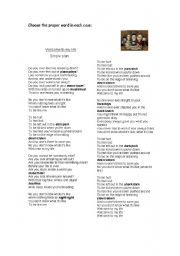 English Worksheet: Welcome to my life