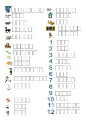 English Worksheets: Write the whole word