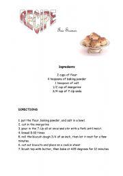 English Worksheet: Tea scones