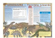 English Worksheets: Dinosaurs - Terrible Lizards