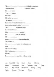 English Worksheets: complete