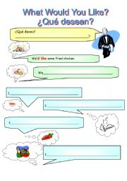 English Worksheet: What would you like?