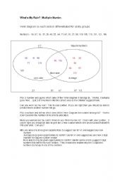 English Worksheets: Multiple murder square numbers