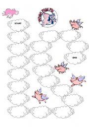 English Worksheets: piggy