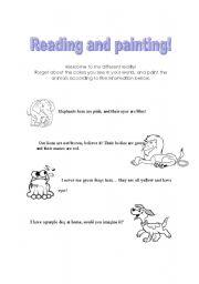English Worksheets: Painting animals