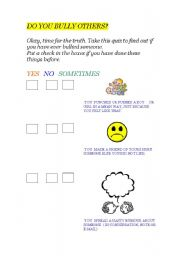 English Worksheets: Do you bully others?