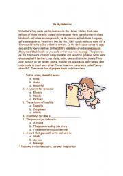 English Worksheet: Story Be my Valentine