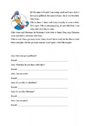 English Worksheets: Donald Duck