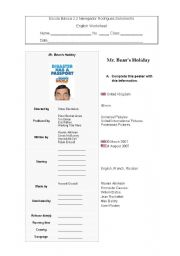 English Worksheets: Mr Bean�s Holiday worksheet