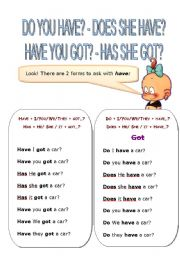 English Worksheets: HAVE QUESTIONS AND WRONG SENTENCES
