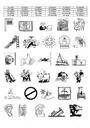English Worksheets: ACTION VERBS ( PART 5/8)