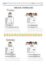 English Worksheets: singular and plural