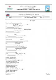 English Worksheet: Friday I´m in love