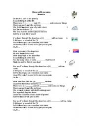 English Worksheets: Horse with no name