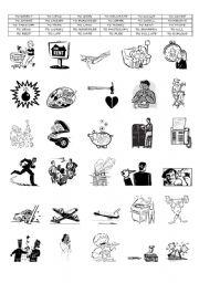 English Worksheets: ACTION VERBS ( PART 7/8)